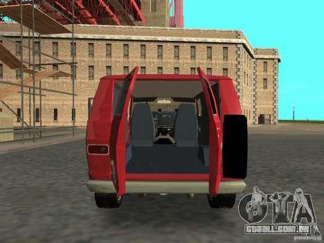 Dodge Tradesman 7z para GTA San Andreas vista direita