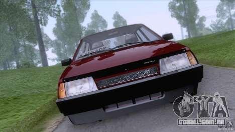 VAZ 2109 drenar Final para GTA San Andreas traseira esquerda vista