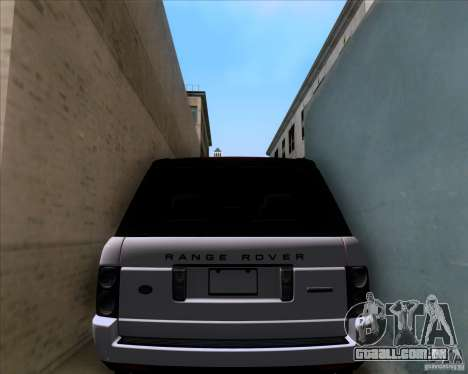 Range Rover Hamann Edition para vista lateral GTA San Andreas