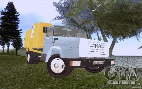 Caminhão de lixo ZIL 4331 para GTA San Andreas esquerda vista