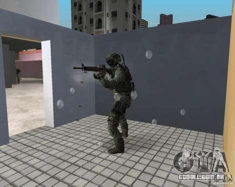 Frost do CoD MW3 para GTA Vice City por diante tela