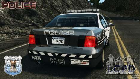 LCPD K9 Unit para GTA 4 traseira esquerda vista