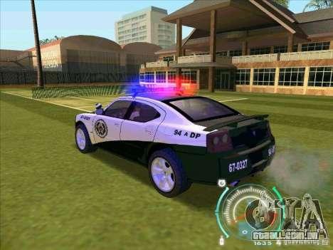Dodge Charger Policia Civil from Fast Five para GTA San Andreas esquerda vista