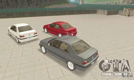 Peugeot 406 stock para GTA San Andreas vista traseira