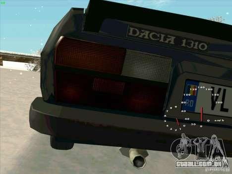 Dacia 1310 Sport para GTA San Andreas vista traseira