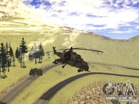 Mi-24 de COD MW 2 para GTA San Andreas vista interior