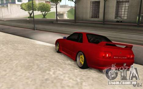 Nissan Skyline GTR-32 StanceWork para GTA San Andreas esquerda vista