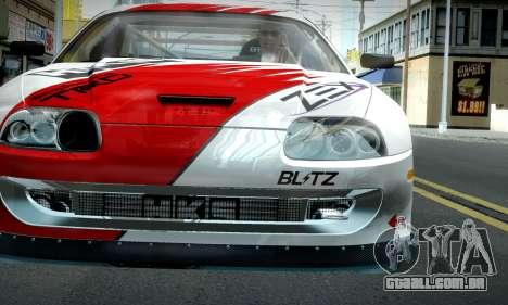 Toyota Supra JZA80 RZ Dragster para GTA San Andreas vista traseira