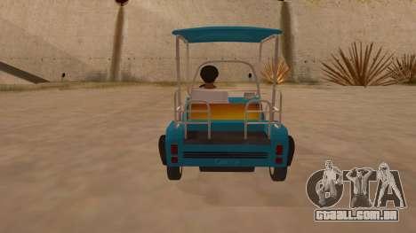 Golf kart para GTA San Andreas vista direita