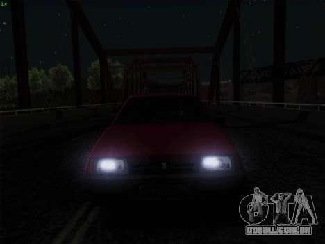VAZ 21083i para GTA San Andreas vista inferior