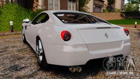 Ferrari 599 GTB Fiorano 2006 para GTA 4 traseira esquerda vista