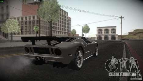 Ford GT para GTA San Andreas vista interior