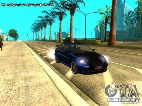Hyundai Accent Era para GTA San Andreas traseira esquerda vista