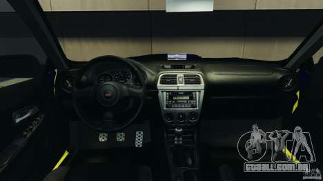 Subaru Impreza British ANPR [ELS] para GTA 4 vista de volta