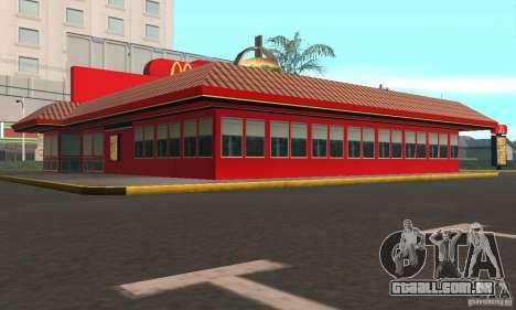 Restaurantes McDonals para GTA San Andreas terceira tela