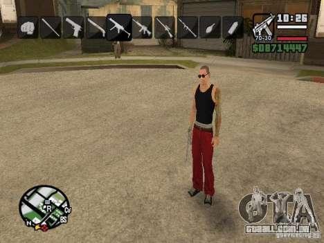 Ícones quando mudar de armas para GTA San Andreas sexta tela