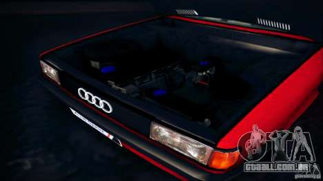Audi 80 B2 para GTA San Andreas vista traseira