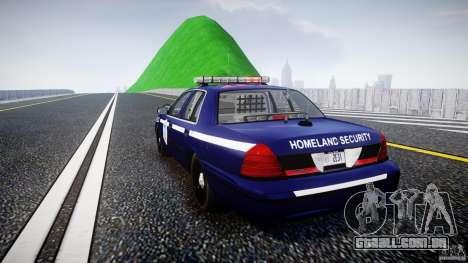 Ford Crown Victoria Homeland Security [ELS] para GTA 4 traseira esquerda vista