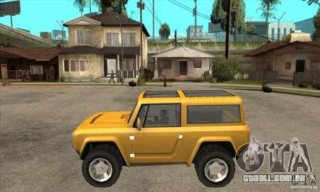 Ford Bronco Concept para GTA San Andreas esquerda vista