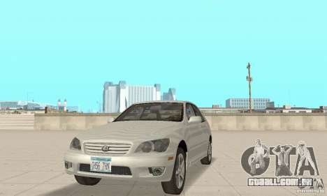 Lexus IS300 Stock para GTA San Andreas