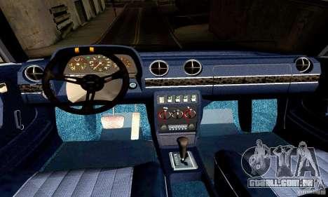 Mercedes Benz W123 para GTA San Andreas vista interior