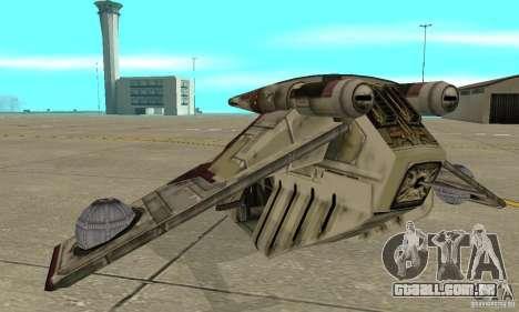 República Gunship de Star Wars para GTA San Andreas traseira esquerda vista