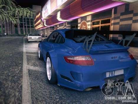 Porsche 997 GT3 RSR para GTA San Andreas esquerda vista