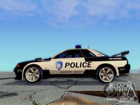 Nissan Skyline R32 Police para GTA San Andreas vista direita