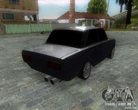VAZ 2107 Drift Enablet Editional i3 para GTA San Andreas esquerda vista