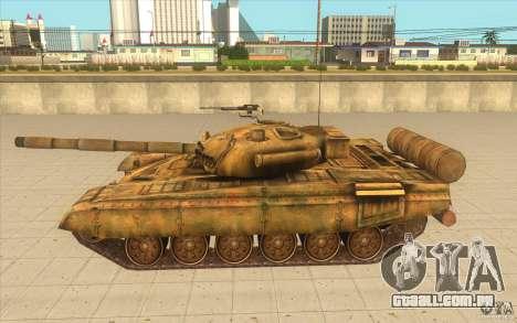 Tanque t-72 para GTA San Andreas esquerda vista