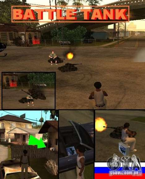 BATTLE TANK para GTA San Andreas