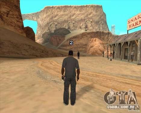 Duelo de vaqueiro para GTA San Andreas por diante tela
