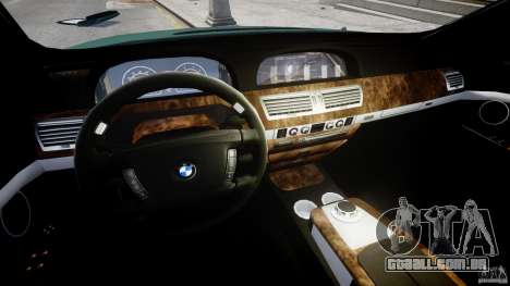 BMW 7 Series E66 para GTA 4 vista de volta