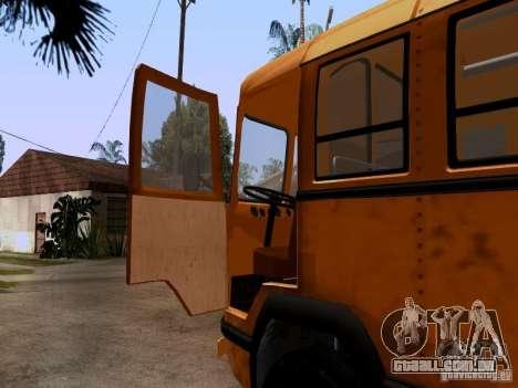 LIAZ 158 para GTA San Andreas vista traseira