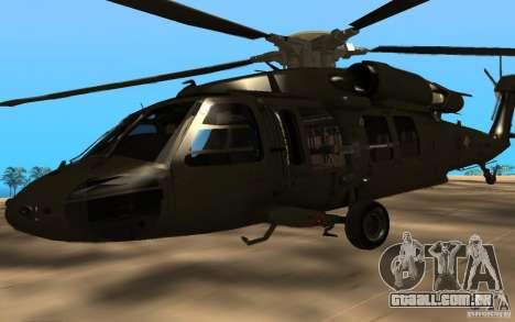 UH-60 Silent Hawk para GTA San Andreas vista direita
