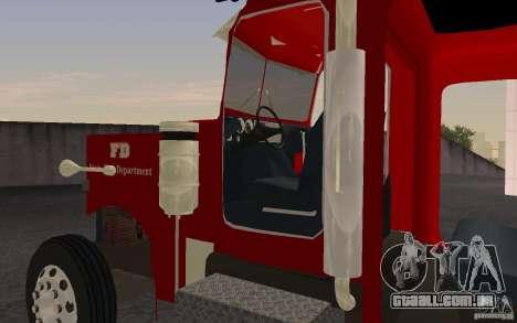 Peterbilt 379 Fire Truck ver.1.0 para GTA San Andreas esquerda vista