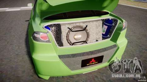 Mitsubishi Lancer Evolution X Tuning para GTA 4 vista interior