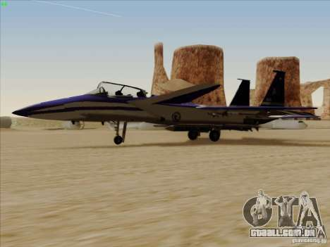 F-15 SMTD para GTA San Andreas esquerda vista