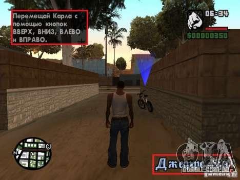 Tradução original de 1 c para GTA San Andreas terceira tela