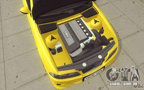 BMW M5 E39 - FnF4 para GTA San Andreas vista inferior