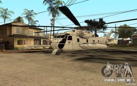 CH 53E para GTA San Andreas esquerda vista
