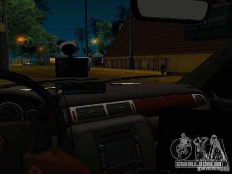 Chevrolet Tahoe Texas Highway Patrol para GTA San Andreas vista interior