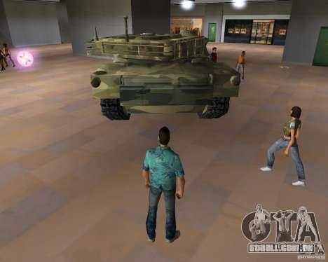Tanque de Camo para GTA Vice City por diante tela