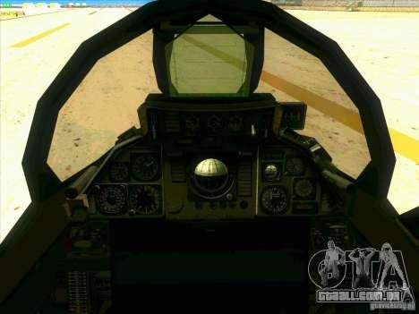 F-14 Tomcat Razgriz para vista lateral GTA San Andreas