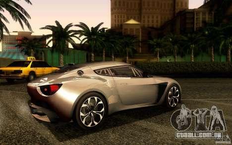 Aston Martin Zagato V12 V1.0 para GTA San Andreas traseira esquerda vista