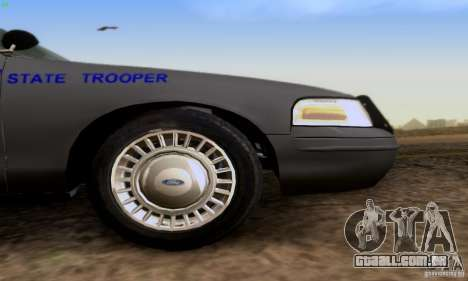 Ford Crown Victoria Kentucky Police para GTA San Andreas vista direita