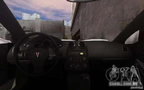 Pontiac G6 para GTA 4 vista inferior