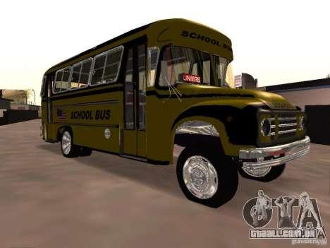 Bedford School Bus para GTA San Andreas vista interior