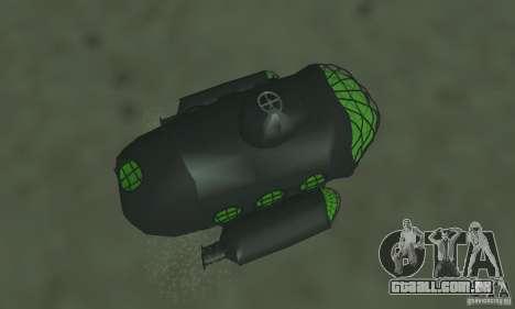 Submarino para GTA San Andreas vista traseira