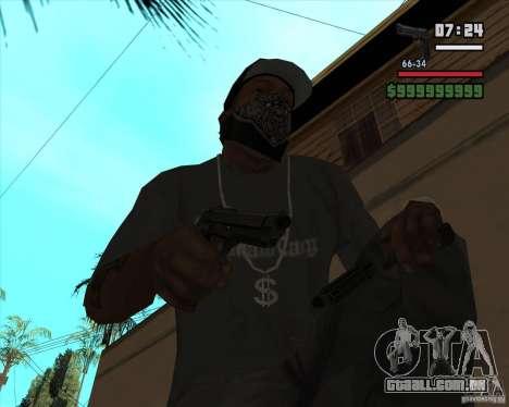 Beretta M92FS HD para GTA San Andreas terceira tela